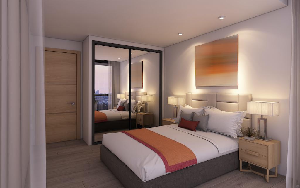 Bedroom in Hotel Room