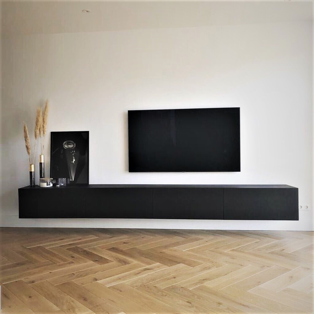 Tv shelf cabinet in modern contemporary interior room